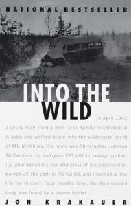 Book cover Into the Wild, Jon Krakauer