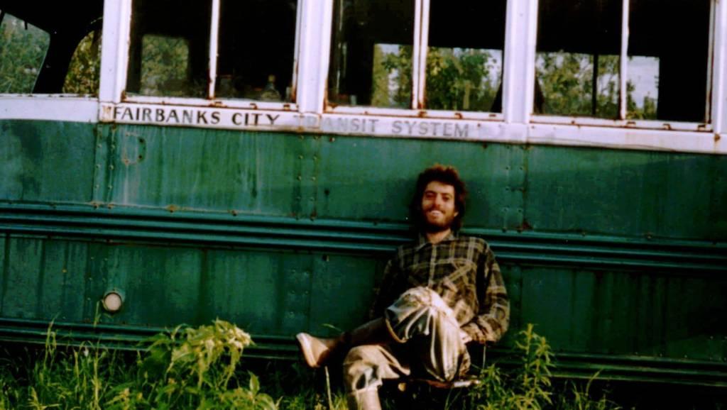 Chris McCandless a.k.a. Alexander Supertramp in fron of Magic Bus in Alaska